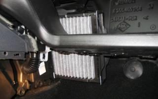Рено меган 2 замена салонного фильтра