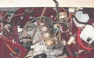 Снятие двигателя ваз 2107