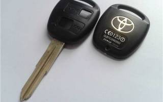 Замена батарейки в ключе тойота